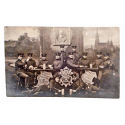 ANTIQUE 1913 RPPC GERMANY ERNST EBERLE PHOTO POSTCARD OF 12TH REGIMENT