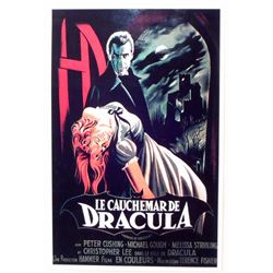 "THE NIGHTMARE OF DRACULA FRENCH MOVIE POSTER PRINT APPROX 11"" X 17"""