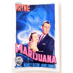 "JOHN WAYNE ""MARIJUANA"" MOVIE POSTER PRINT APPROX 11"" X 17"""
