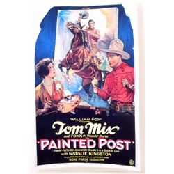 "TOM MIX ""PAINTED POST"" MOVIE POSTER PRINT APPROX. 11"" X 17"""