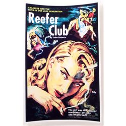 "REEFER CLUB COVER PULP NOVEL ART POSTER PRINT APPROX 11"" X 17"""