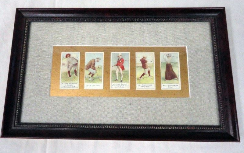 2-FRAMED GOLF PICTURES by The Bombay Company - Looks like Vintage ...