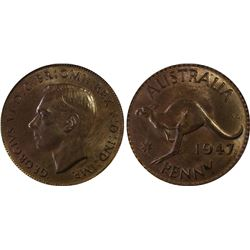 1947 Penny PCGS MS 64 RB