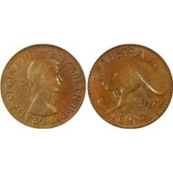 1962 Penny PCGS MS 64 RB