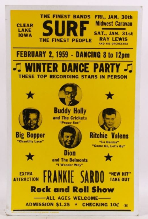 Buddy Holly Ritchie Valens Feb 2 1959 Poster Read