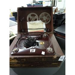 Webcor Vintage Portable Reel To Reel Tape Player
