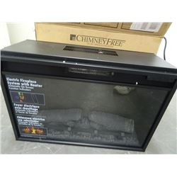 Electric Fireplace Insert - New 26in with heater and remote.
