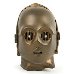 Don Post Star Wars C-3PO Vintage 1977 Mask Signed by Anthony Daniels & Bill Malone