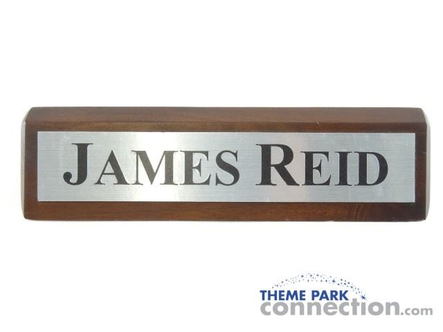reid name. image 1 : the green hornet 2011 movie production used james reid desk name plate prop