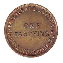 Breton # 899, Charlton # NS-17A1, CCCS MS-65, 1 Farthing Halifax House. Exceptional quality for this