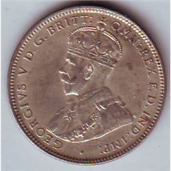 Australia 1918M One Shilling in AU-50, catalogue at 425.00 dollars in McDonald catalogue.