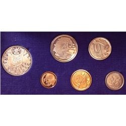 Australia; Proof Set 1966 in original case with sleeve. All coins are untoned and cent & 2 cents are