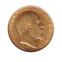 Great Britain Gold 1/2 Sovereign 1910 EF-40.