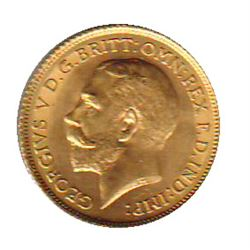 Great Britain Gold 1/2 Sovereign 1914 MS-62.