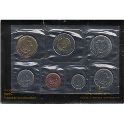 Uncirculated Set 2005 with the cent 2005P Non Magnetic in original envelope with certificate.