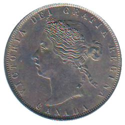 50 cents 1872H CCCS AU-55; Repunched 50 of 50 CENTS and D of CANADA.