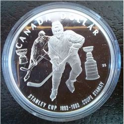1 dollar 1993 Proof in Case of issue without COA or sleeve, Stanley cup.