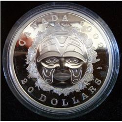 20 dollars 2009 Summer Moon Mask in Case of issue with COA and sleeve.