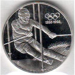 Austria: 200 Schillings 1995, Olympic Centenary, Skier, KM # 3027. Proof coin containing 0.9937 oz A