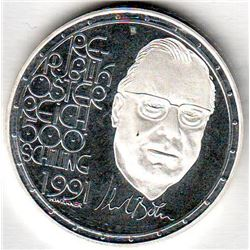 Austria: 500 Schillings 1991, Karl Bohm, Building, KM # 3002. Proof coin containing 0.7125 oz ASW.