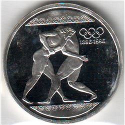 Greece: 1000 drachmes 1996, Olympics, 2 ancient wrestlers, KM #166. Proof coin containing 1.0010 oz