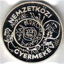 Hungary: 200 Forint 1979, International Year of the Child, KM # 615. Proof coin containing 0.5724 oz