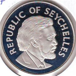 Seychelles: 25 rupees 1977, Queen's Silver Jubilee, KM # 38a. Proof coin containing 0.8356 oz ASW.