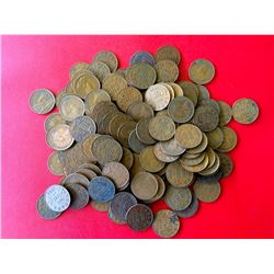 George V one cent coin lot, 150 coins.