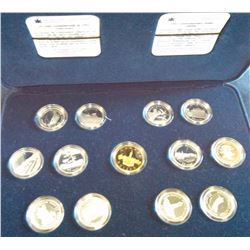 25 cents set 1992 in silver with Proof Parliament Dollar.