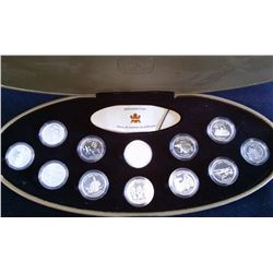 25 cents set 2000 in silver in case with box and COA.