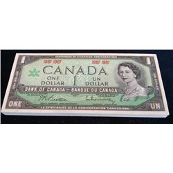 Bank of Canada: 1 dollar 1967 Commemorative, BC-45a. Lot of 50 notes.