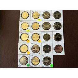 1 dollar: Serie from 1968 to 1986, Nickel voyageur and Commemorative coins. From unc brillant & Proo