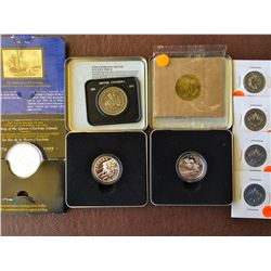 Silver dollar 1999 Proof, Canadian sport series, Two coins no # 9 & 11. Unc 1971 dollar, 4 x milleni