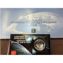 1 dollar 2000 proof silver coins Voyage of discovery & Canada rare 25 cents Nestlé Millenium set