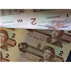 Canada 2$ Banknote sheet, $ 2.00 x 40  size of 4 x 10