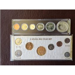 1967 and 1968 Canada coin set.