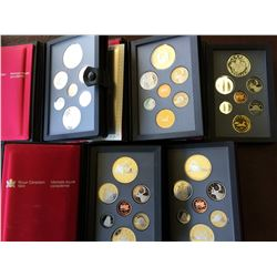 Canada silver proof set: 1984-1986-1987-1988-1994. lot of 5 sets.