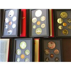 Canada silver proof set: 1986-1987-1988-1990-1991. lot of 5 sets.