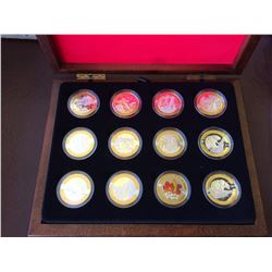 10$ dollars 2013 Fine silver  gold-plated OH Canana-10 coins set
