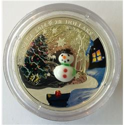 20 dollars 2014 proof silver coin: Murano, Snowman