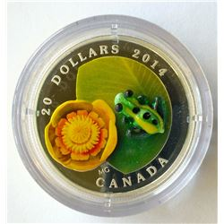 20 dollars 2015 proof silver coin: Murano, the Frog