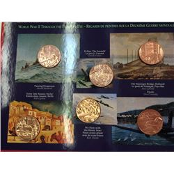 Canada Magnetic tokens: Remembers copper, set of 6.