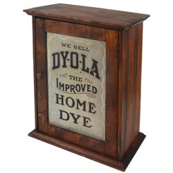 Country store dye cabinet, Dy-O-La, The Improved Home Dye, made by Johnson Richardson Co.-Montreal,