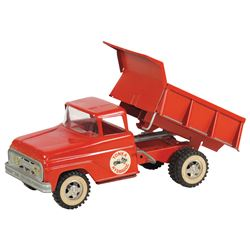 "Toy dump truck, Tonka Hydraulic, crank operated, pressed steel, c.1960's, Exc cond, 13""L."