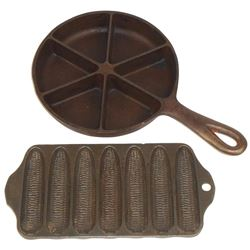 Kitchenware cast iron molds (2), Griswold Crispy Corn or Wheat Stick Pan #625 & Corn Bread Skille
