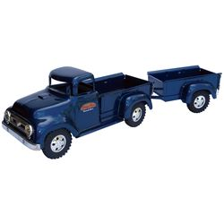 "Toy truck & trailer, Tonka Toys-Mound, MN, pressed steel, new-old-stock in Near-Mint cond, 19""L."