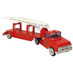 Toy Fire Engines (2), Buddy L Ladder Truck, upper ladder intact, missing side ladders & light on cab