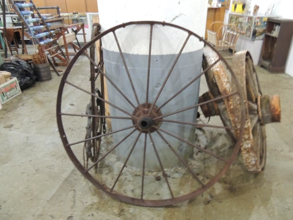 Iron Tractor Wheels : Large wrought iron tractor wheel