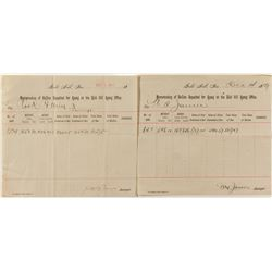 Two Gold Hill Assay Sheets