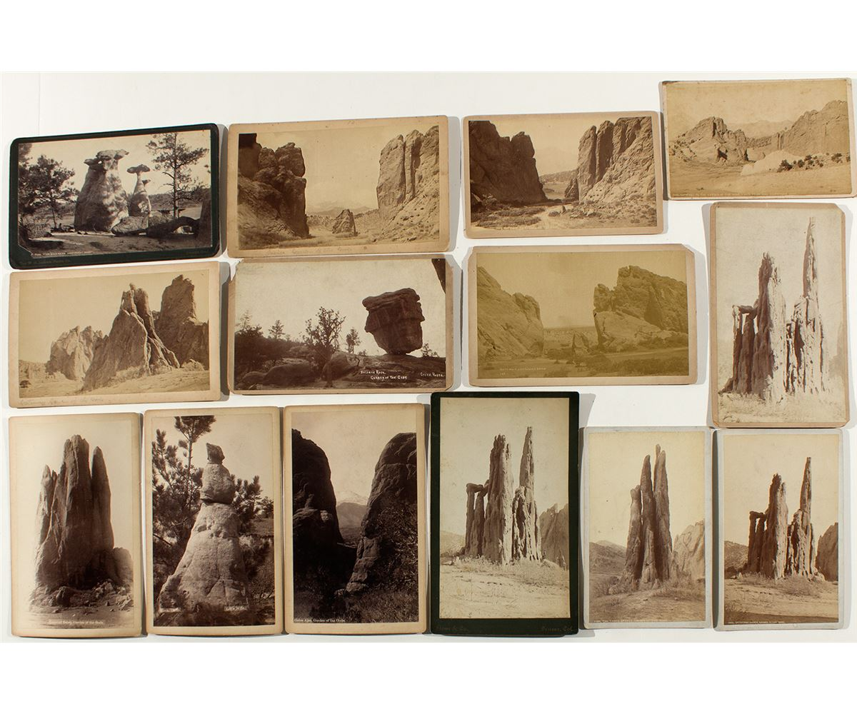 Garden Of The Gods Cabinet Card Collection Holabird Western Americana Collections